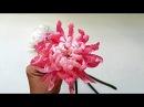 DIY Craft tutorial How to Chrysanthemum by crepe paper Làm hoa cúc đại đóa giấy nhún