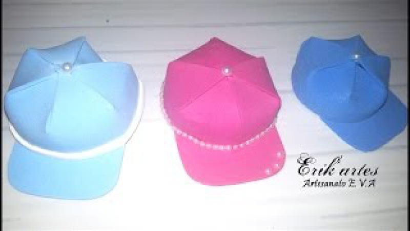 Boné/chapeu de E.V.A para lembrancinha ou para fofucha