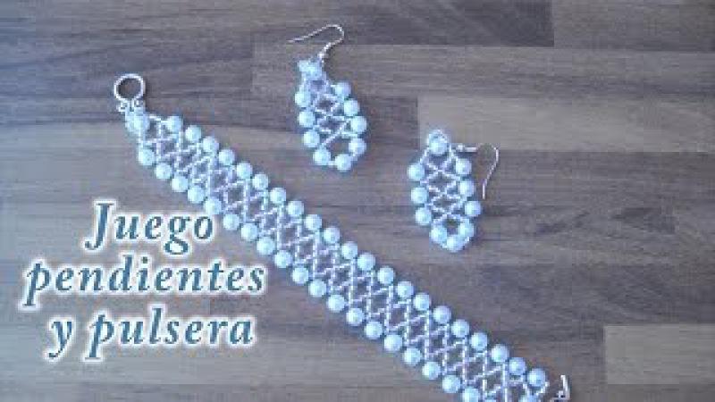 DIY - Pendientes y pulsera a juego DIY - Matching Earrings and Bracelet