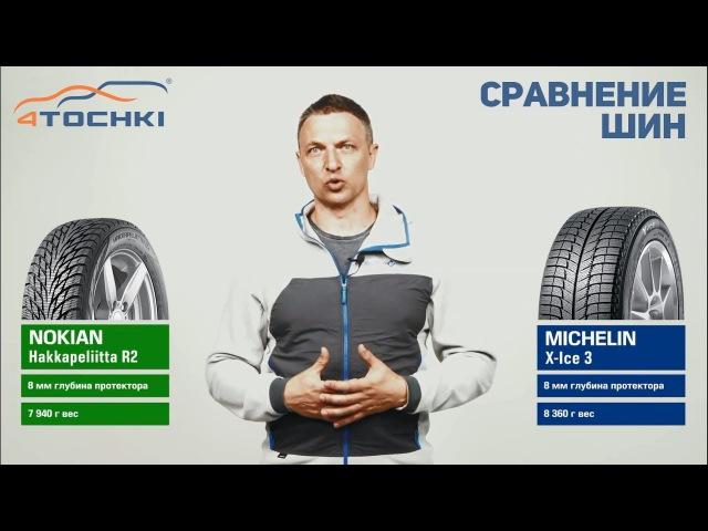 Сравнение шины Nokian Hakkapeliitta R2 против Michelin X-Ice 3 на 4 точки. Шины и диски 4точки
