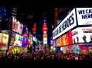 Walking around Times Square at Night in New York City 4K