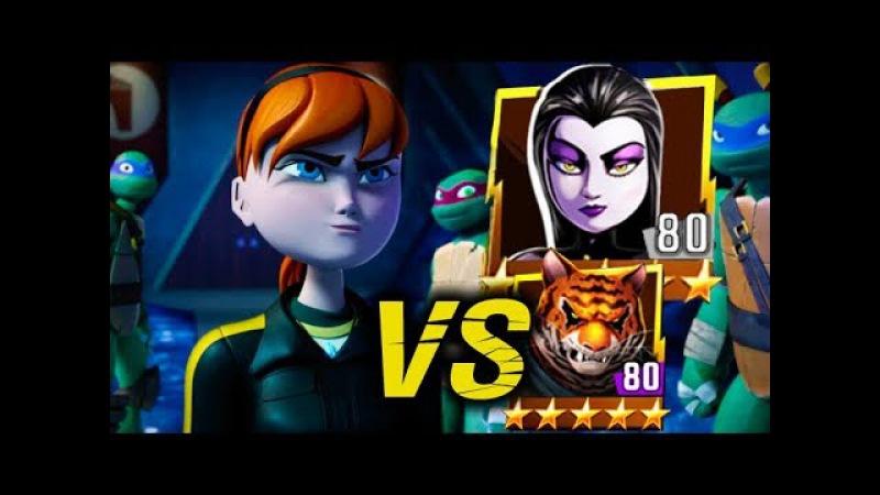 April becomes Kunoichi VS Shinigami and Tiger Claw Teenage Mutant Ninja Turtles Legends episode 543