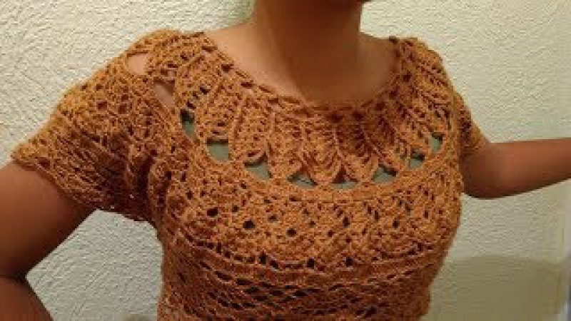 Tutorial de Blusa a Crochet Paso a Paso Facil y Rapido 3