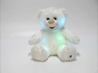 Мягкий музыкальный светильник Лунный медвежонок (свет), 27 см