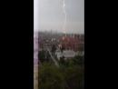 Удар молнии в Будапеште, Венгрия, 3 мая 2017 г.