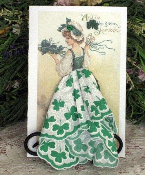 Фантазийные открытки с использованием платочков, зимой своими руками