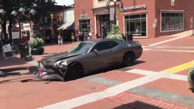 NEW HD video Of Car Ramming Attack Of Anti-Racist Counter-Protester