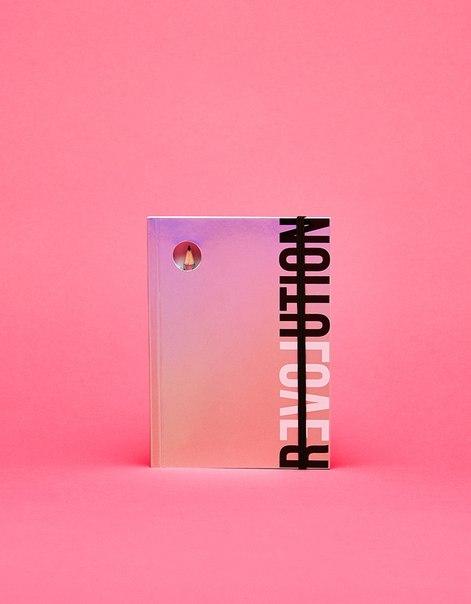 Записная книжка с металлизированной отделкой