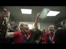 Раздевалка женского ЦСКА после победы в Кубке России