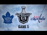 NHL 17 PS4. 2017 STANLEY CUP PLAYOFFS 100th FIRST ROUND GAME 5 EAST. TOR VS WSH. 04.21.2017. (NBCSN)