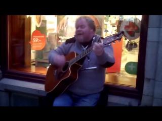 Уличный музыкант Dave Stewart Scorpions Wind of Change
