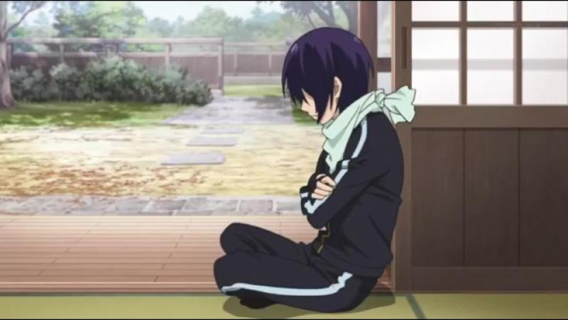 Момент из 4 серии аниме Бездомный бог / Noragami
