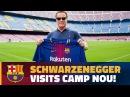 Arnold Schwarzenegger visits the Camp Nou!