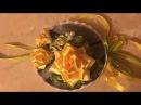 Мастер-класс игольница Роза в технике канзаши