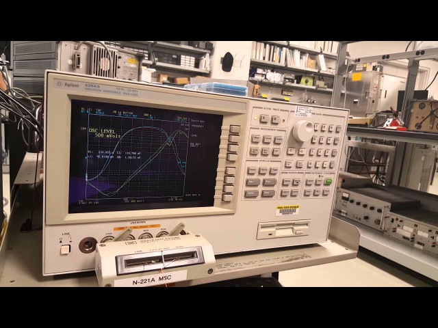 Lecture 10 Part D HP 4294a Impedance Analyzer to Characterize Piezo