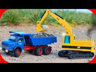 The Yellow Excavator Cartoon for kids | Construction Trucks Video | Diggers Cartoons for children