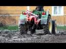 Самодельный трактор. Весенняя вспашка.(Nikon+SJ5000)