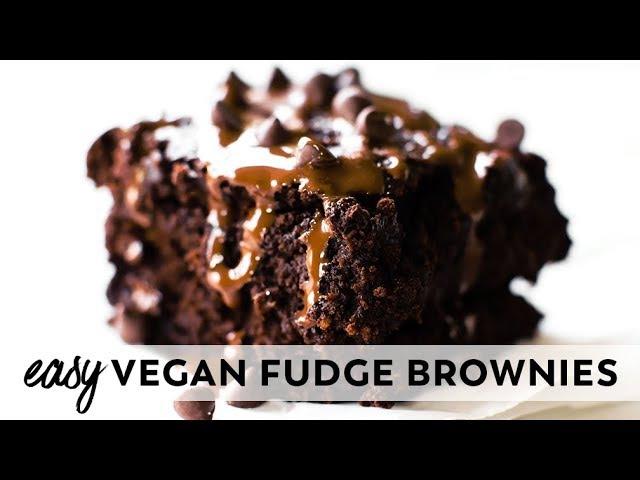 Easy Vegan Fudge Brownies (Gluten-Free)