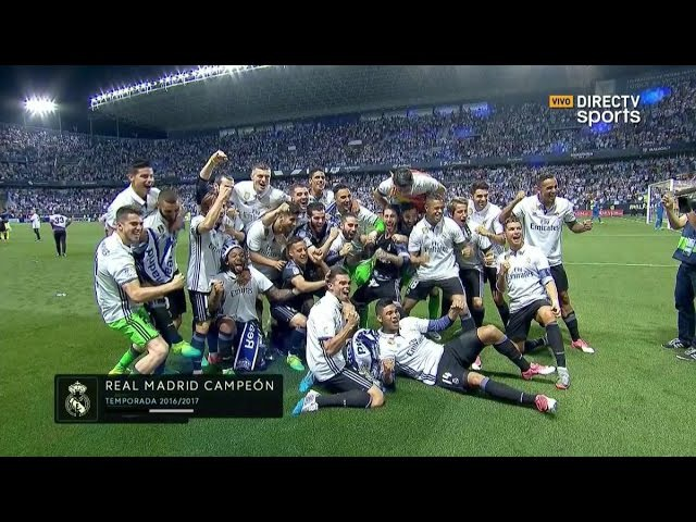 Celebracion Liga Real Madrid vs Malaga 21/05/2017