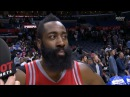 James Harden's epic post-game interview walkoff