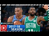 Kyrie Irving vs Russell Westbrook ELITE PG Duel Highlights (2017.11.03) Celtics vs Thunder - EPIC!