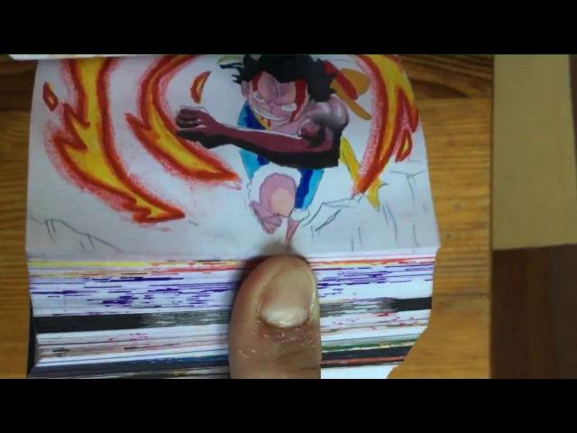 LUFFY vs BLACK GOKU Flipbook animation one piece, Dragon Ball Super