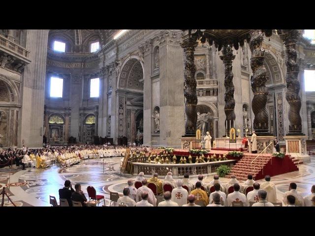 Архиєрейська Божественна Літургія у Базиліці Святого Петра у Ватикані