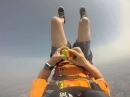 Rubix cube solved in free fall!!