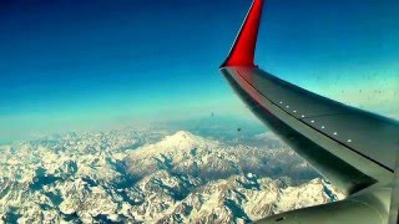 Кавказ, полет над горой Арарат. Трансаэро, Москва Дубаи 30.12.2013г