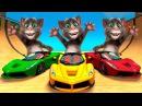Говорящий Кот Том Мультик Игра для Детей про Машинки, Потешки Песни для Детей, Стишки для Детей