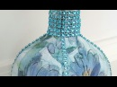 DIY Upcycled Bottle Dollar Tree Napkins Bling Mod Podge