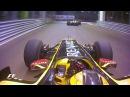 Robert Kubica Slices Through The Traffic 2010 Singapore Grand Prix