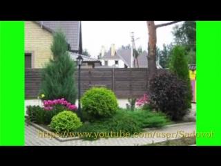 Красивые клумбы из хвойников. Conifer garden..mp4