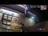 США.Балтимор.Полицейский застрелил вооруженного дробовиком грабителя