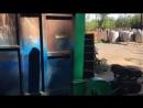 видео дробилка с верхним и нижним выбросом