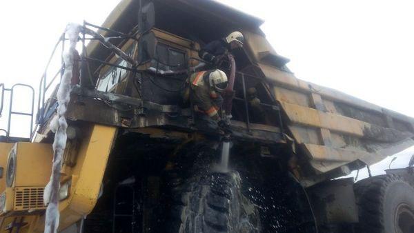 В Хабезском районе сгорел БелАЗ