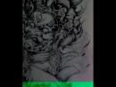 18/06/17 Началась моя большая работа. Япония. Мой эскиз. Место-вся спина. Понеслись... Сколько будет сеансов, даже представить н