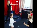 на уроках хореографии в детском муз.театре Соловей