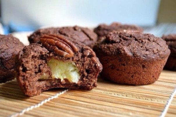 Шоколадно-банановые овсяные кексы  Ингредиенты : •