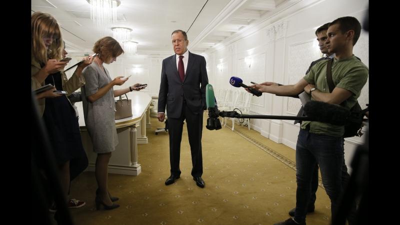Пресс подход С В Лаврова по итогам заседания СМИД ОДКБ