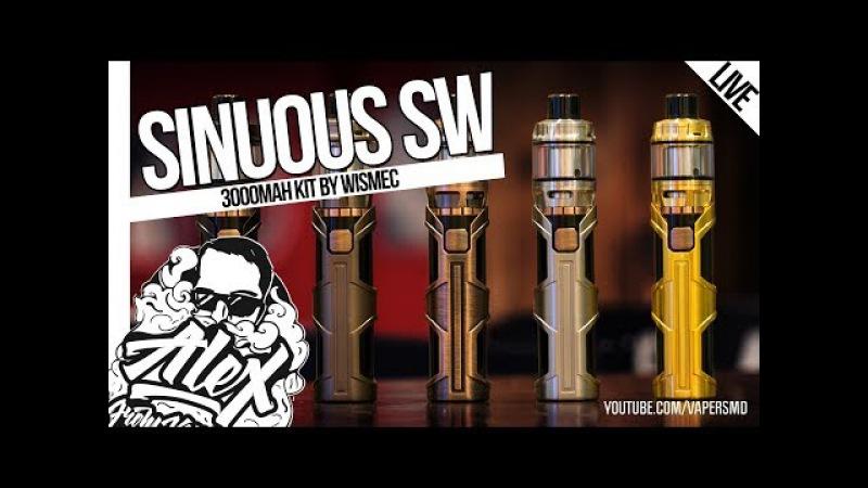 SINUOUS SW Elabo SW l by Wismec Sinuous Designs l Alex VapersMD review 🚭🔞
