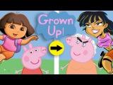 Kids' Cartoons GROWN UP: Peppa Pig, Dora the Explorer, Doc McStuffins, Sesame Street, & more!