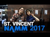 St Vincent on Her Ernie Ball Music Man Guitars NAMM 2017