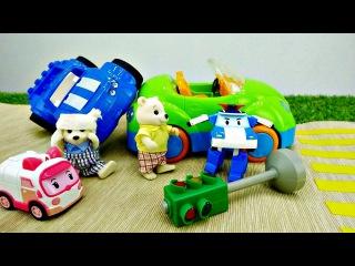 Vidéo avec jouets: OURS 🐻 a un accident.Dessin animé #dessinanimé Robocar Poli #robocarpoli