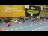 Упражнение с мячом (Футбольная школа «Юниор» г. Владивосток)
