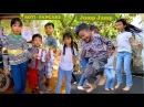 Travel around Krong Siem Reap in Cambodia   Kids Play and Eat Roti Pancake in front of Angkor Wat
