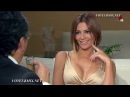 Cecilia Galleano Sexy Vestido Dorado Escote Qlito HDTV1080
