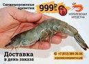 2 кг. креветок всего за 999 рублей с доставкой в день заказа!
