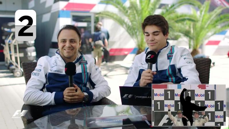Williams Racings Felipe Massa and Lance Stroll _ F1 Grill The Grid 2017 (1)