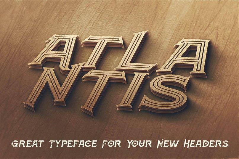 Download Atlantis font (typeface)